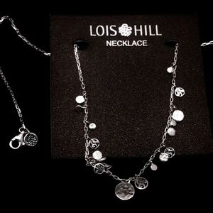 Lois Hill Sterling Filigree Disk Station Necklace